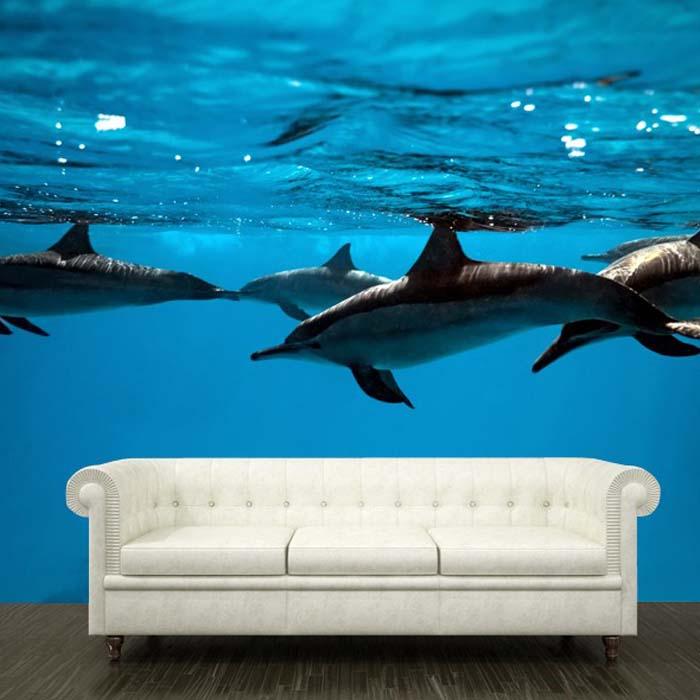 Photo wallpaper with deep sea animals